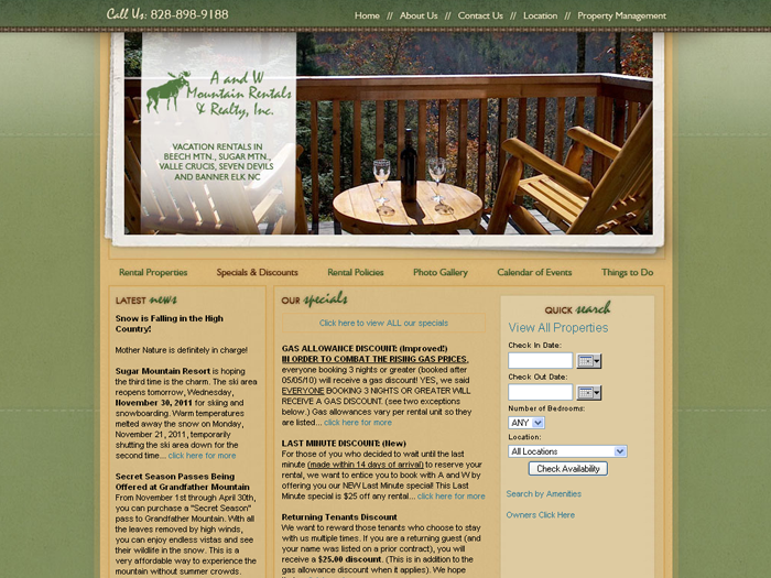 RMS vacation rental software drives websites in North Carolina!