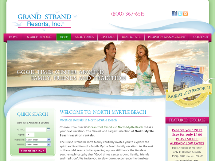 RMS vacation rental software drives websites in Myrtle Beach!