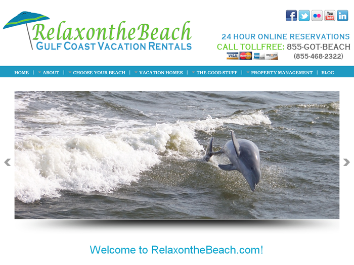 RMS vacation rental software drives websites in the Gulf Coast!