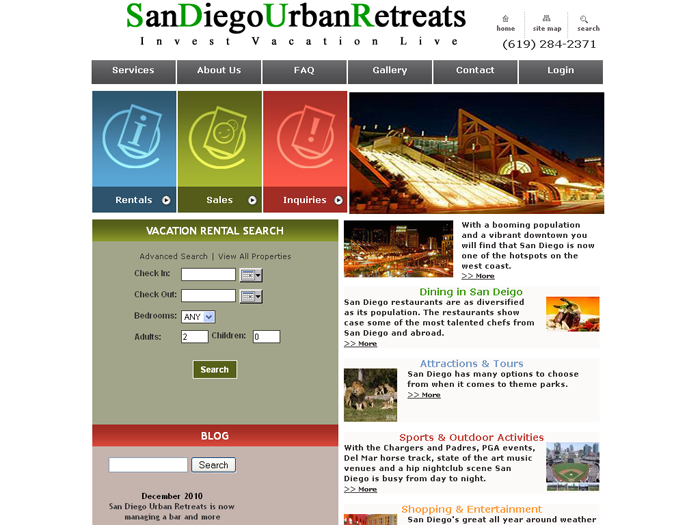 RMS vacation rental software drives websites in San Diego!