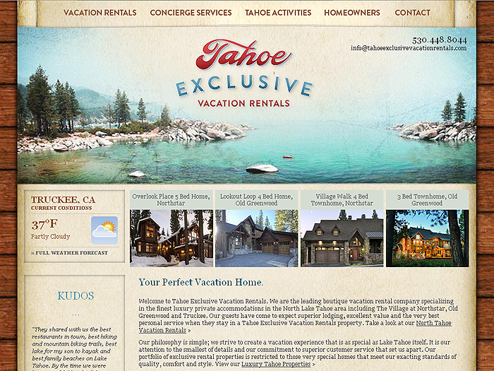 RMS vacation rental software drives websites in Tahoe!